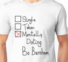 Mentally Dating Bo Burnham Unisex T-Shirt