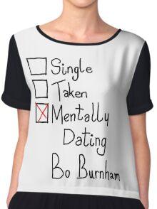Mentally Dating Bo Burnham Chiffon Top