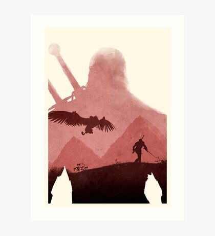 The Witcher (No Text) Art Print