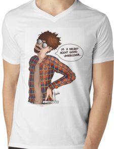 Secret Agent Mens V-Neck T-Shirt