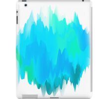 Abstract Painted Blue and Green Form on White Background iPad Case/Skin