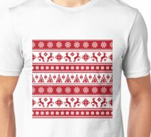 Christmas Holiday Nordic Pattern Cozy Unisex T-Shirt