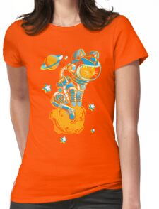 Space Cat Womens Fitted T-Shirt