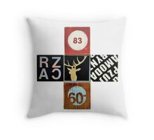 Meat and Grissle Throw Pillow