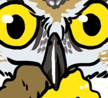 Pizza Owl Sticker
