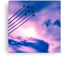 Purple Arrows Canvas Print
