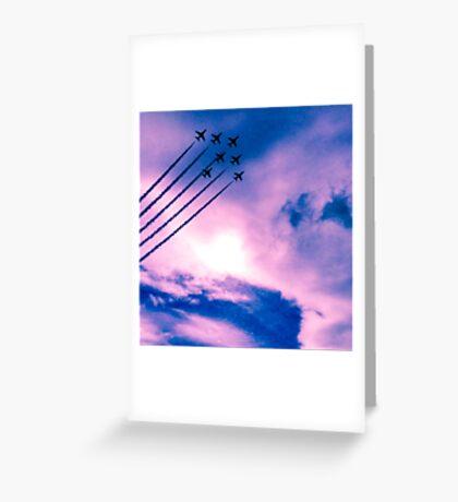 Purple Arrows Greeting Card