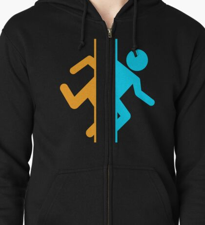 Thinking with Portals Zipped Hoodie