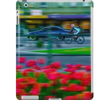 Early Morning Cyclist on Pall Mall iPad Case/Skin
