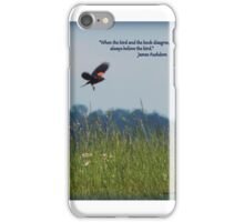 The Bird and the Book iPhone Case/Skin