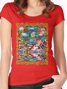 Christmas on the Moon Women's Fitted Scoop T-Shirt