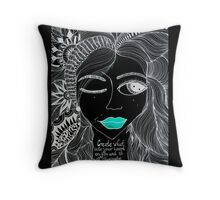 """Negative"" Throw Pillow"