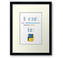 Do It in Python Framed Print