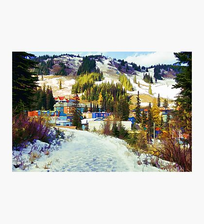 """Mountain Haven"" Ski Village Photographic Print"