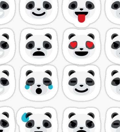 Emoji Panda Different Facial Expression Sticker