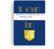 Do It in Javascript Canvas Print
