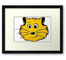 A cartoon hamster face Framed Print