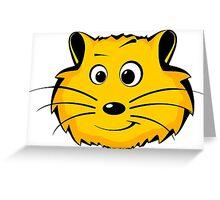 A cartoon hamster face Greeting Card