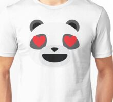 Emoji Panda Heart and Love Eyes Unisex T-Shirt