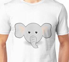 Funny Elephant Face Cartoon Unisex T-Shirt