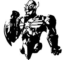 Ultron fused with Captain America Photographic Print