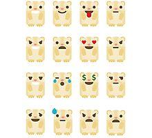 Emoji Guinea Pig Different Facial Expression Photographic Print