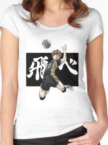 Haikyuu!! Hinata Women's Fitted Scoop T-Shirt