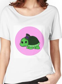 Turtle Baby In A Top Hat Women's Relaxed Fit T-Shirt