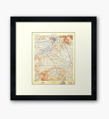 USGS TOPO Map California CA Riverside 298779 1901 62500 geo Framed Print