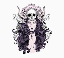 Beautiful woman with long hair and antlers Unisex T-Shirt