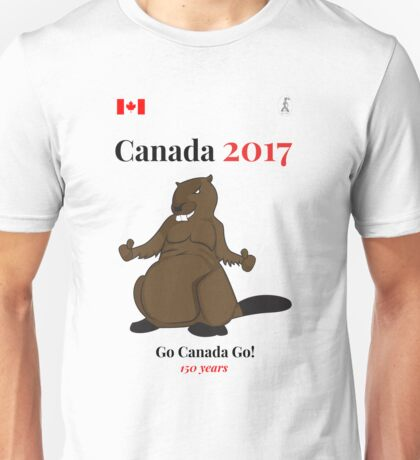 Canada 150, Canada 2017 & Canada Day Shirts & Souvenirs - Canadian Hockey, Curling, July 1 Party, Cool and Heritage Beaver Shirt Selection! Unisex T-Shirt