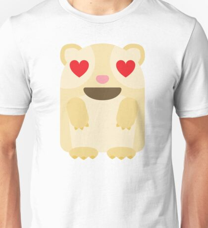 Emoji Guinea Pig Heart and Love Eyes Unisex T-Shirt