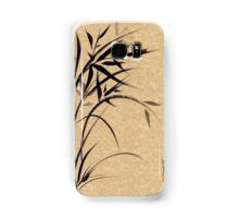 """Serene""  Sumi-e ladybug & bamboo ink brush painting Samsung Galaxy Case/Skin"