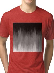 Black and White Line Background Tri-blend T-Shirt