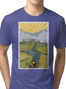 Retro Vlaanderen cycling poster Tri-blend T-Shirt