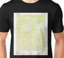 USGS TOPO Map California CA Sacate Ridge 294873 1987 24000 geo Unisex T-Shirt
