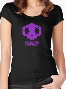 Sombra Skull Women's Fitted Scoop T-Shirt
