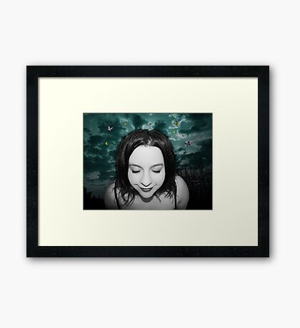 I always dreamed of happiness Framed Print