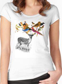 DEER BIRDY Women's Fitted Scoop T-Shirt