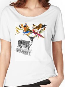 DEER BIRDY Women's Relaxed Fit T-Shirt