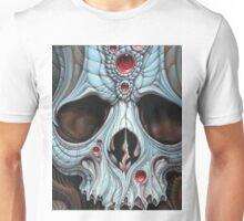 blue jeweled skull Unisex T-Shirt