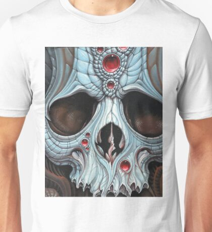 blue jeweled skull Unisex T-Shirt