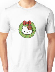 Hello Kitty Christmas Wreath Unisex T-Shirt
