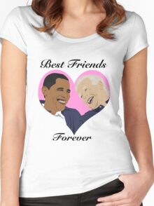 Joe and Barack Besties for Life Women's Fitted Scoop T-Shirt