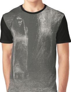A man is lonely in a nocturnal landscape, Odilon Redon,  Graphic T-Shirt