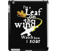 Leaf on the wind (white text) iPad Case/Skin
