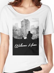Minimal Silhouette Poster Design - 'Welcome Home' Women's Relaxed Fit T-Shirt