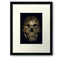 carved skull Framed Print