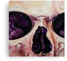 close up skull3 Canvas Print