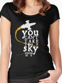 You can't take the sky from me - white text variant Women's Fitted Scoop T-Shirt